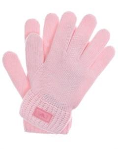 Розовые перчатки из шерсти и кашемира детские Emporio armani