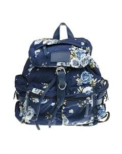 Синий рюкзак с цветочным принтом детский Monnalisa