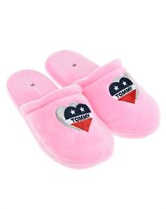 Розовые тапочки с логотипом детские Tommy hilfiger