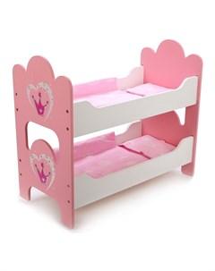 Кроватка для кукол Корона двухъярусная Mary poppins