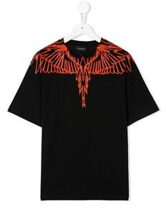 футболка с круглым вырезом и принтом Marcelo burlon county of milan kids