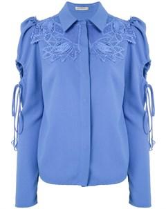 Рубашка Dominique с кружевной аппликацией Martha medeiros