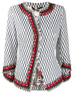 твидовый пиджак с узором в елочку Bazar deluxe