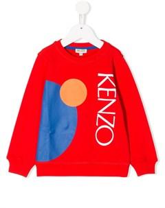 свитер с геометричным принтом Kenzo kids