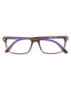 очки в прямоугольной оправе Tom ford eyewear