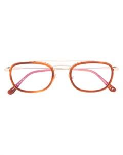 очки в овальной оправе Tom ford eyewear