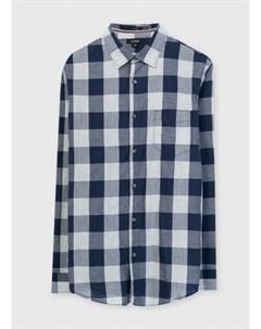 Рубашка в клетку с меланжевым эффектом Ostin