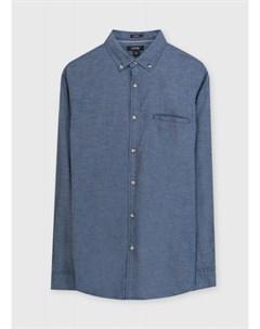 Рубашка из структурного тонкого хлопка Ostin