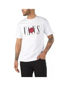 Хлопковая футболка с принтом Mn Kw Classic Rose S White 2021 Vans