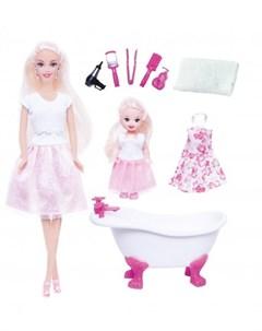 Набор с куклой Ася Веселое купание с мини куклой 28см Toyslab