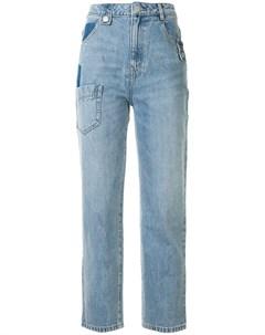 джинсы с контрастными вставками Portspure