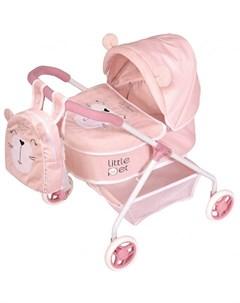 Коляска для куклы с рюкзаком Литл Пет 56 см Decuevas