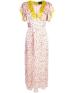 Платье макси Pamela с расклешенными рукавами Cynthia rowley