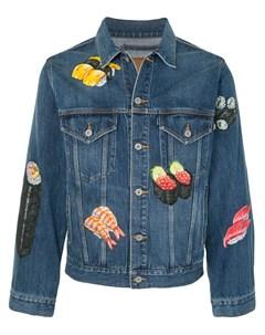 Джинсовая куртка с принтом Doublet