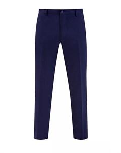 Однотонные шерстяные брюки с кожаной отделкой Bertolo cashmere