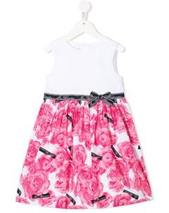 Платье без рукавов с цветочным принтом Miss blumarine