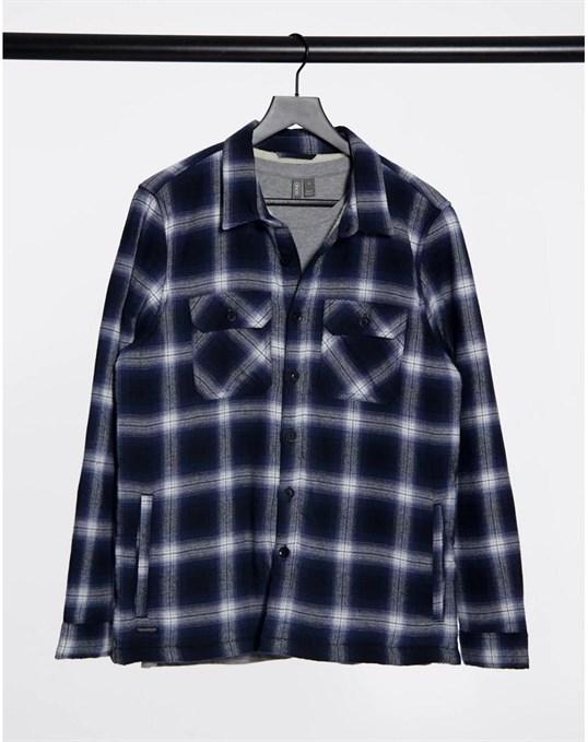 Рубашка в крупную клетку на подкладке из искусственного меха Threadbare артикул 3CDA6624 в интернет-магазине Elemor.ru