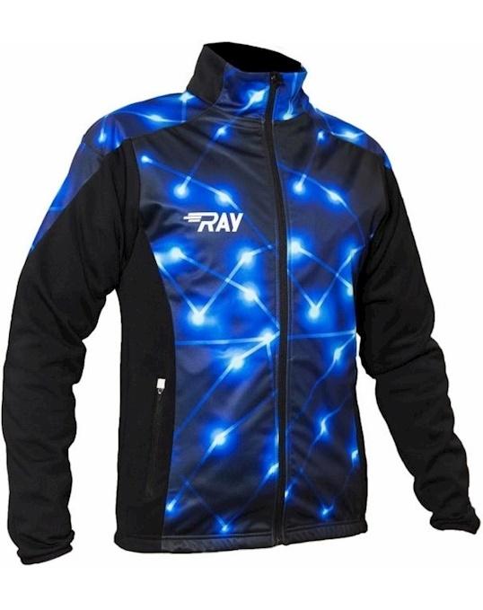 Куртка Беговая 2018 19 Pro Race Принт Геометрия Синий Ray артикул 3BB36A44 в интернет-магазине Elemor.ru