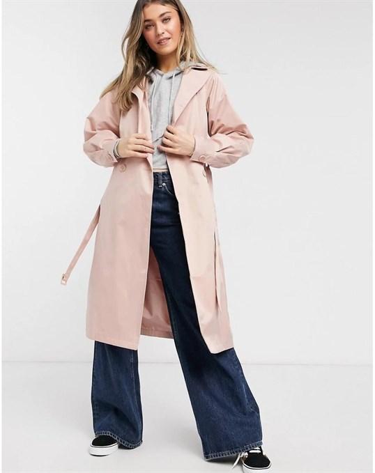 Плащ дождевик приглушенного розового цвета Louisa Threadbare артикул 3CEEB020 в интернет-магазине Elemor.ru