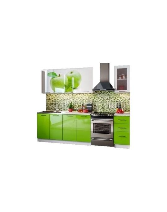 Кухня ПВХ с фотопечатью Яблоко 2 0 Миф - 0
