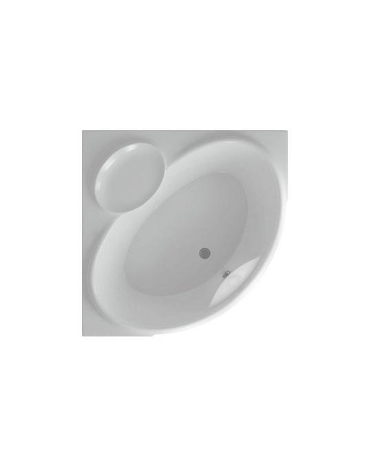 Акриловая ванна Эпсилон 150х150 фронтальная панель каркас слив перелив EPS150 0000066 Aquatek - 0